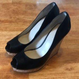 Nine West peep toe wedges